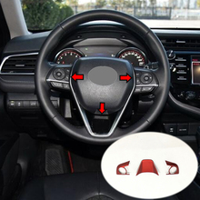 free shipping quality bt steering wheel switches control mode for toyota corolla rav4 2014 2015 car styling For Toyota Corolla 2019 ABS Matte and Carbon fibre Car Steering wheel Button frame Cover trim car styling Accessories 3pcs