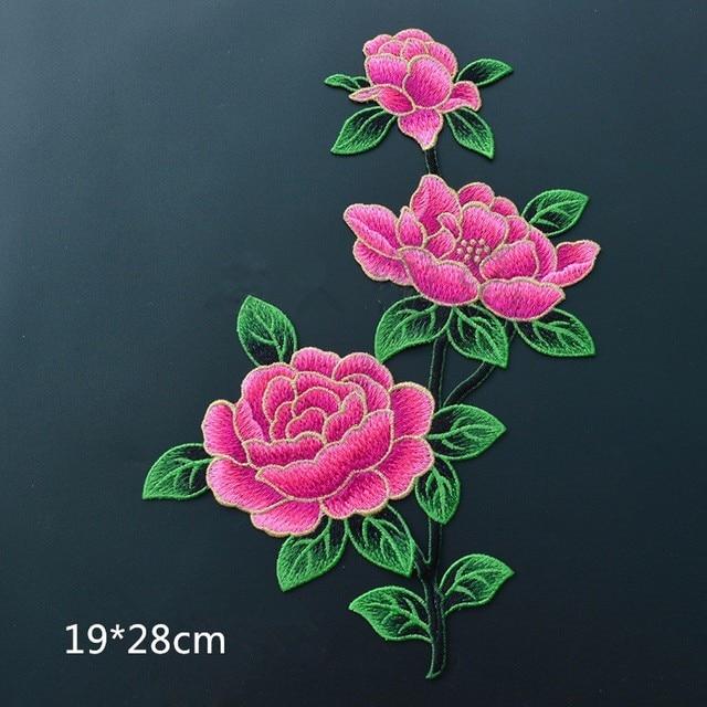 Nueva moda 1 punid parches grandes de flores de Rosa peonía para decoración  de boda hierro 2a840db88114