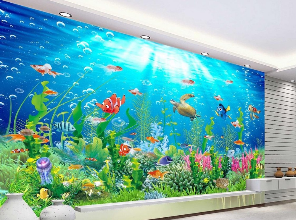 3d room wallpaper landscape beach ocean 3d wall murals ...