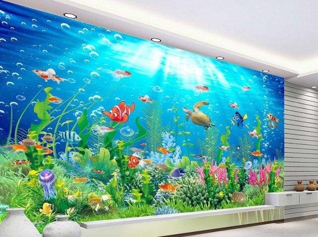 Buy 3d room wallpaper landscape beach for Beach wall mural cheap