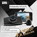 New 1920*1080P 30fps G5WA Dual Channel Full HD CAR dvr Ambarella A7LA70 Dual Lens 1080P 170 degree wide angle lens optional GPS