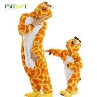 Children Kids Flannel Animal Pajamas Anime Cartoon Costumes Sleepwear Cosplay Onesie Pink Green Dinosaur Free Shipping