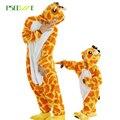 Novas mulheres Pijamas Outono Inverno Criança Flanela Animal engraçado Ponto animal panda unicórnio pijamas nightgowns Onesie Sleepwear