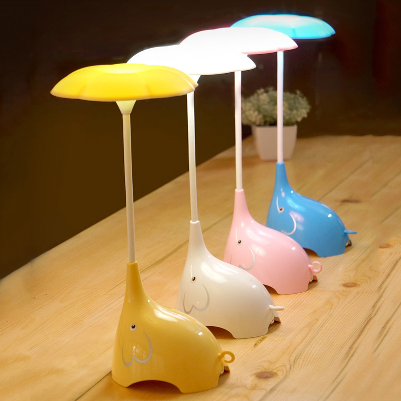 Dimmer USB Βιβλιοθήκη Λάμπες επιτραπέζιοι ελέφαντες Σύγχρονος πύργος του Άιφελ Φως νυκτός ελαφρύ Αισθητήρας αφής ελαφρύ Kid Υπνοδωμάτιο μπαταρίας Φωτισμός LED