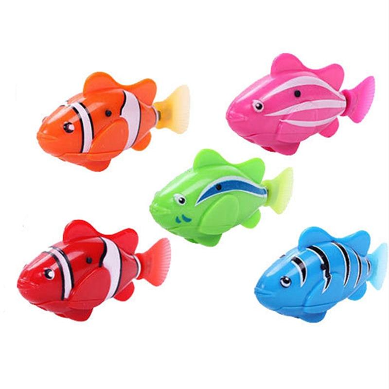 Fish-Bath-Toys Bathtub Battery-Powered Swim-Robotic Electronic Pet Children Kids Flash