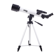 Professional HD 250 Times Astronomical Refractive Monocular Telescope F60500 with Portable Tripod & Bag for Astronomy Observing