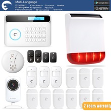 Etiger S4 Solar Sirenfor Outdoor eTIGER GSM/PSTN Burglar Alarm System For Home/Office WiFi Network Camera