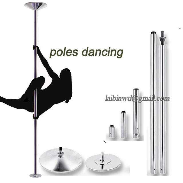 360 Professional Spinning Dance Pole adjuatbale Rotation and stirless training pole Beginner professional stripper dance pole