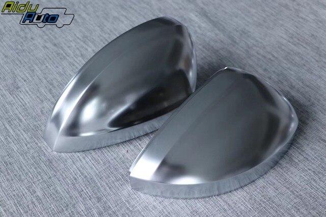 Matt Chrome Silver Mirror Cover Rear view Side Mirror Cap Housing USE For VW MQB Tiguan MK2