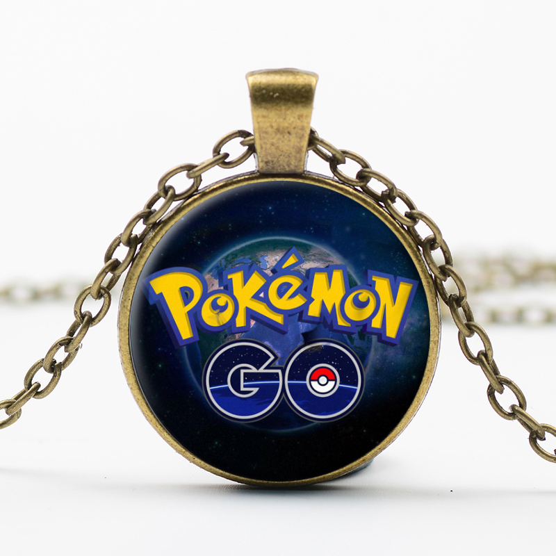 New Fashion Pokemon Go Necklace Game Anime Jewelry Poke Ball Rotatable Pendant Long Chain for Women and Men Fans Friendship Gift