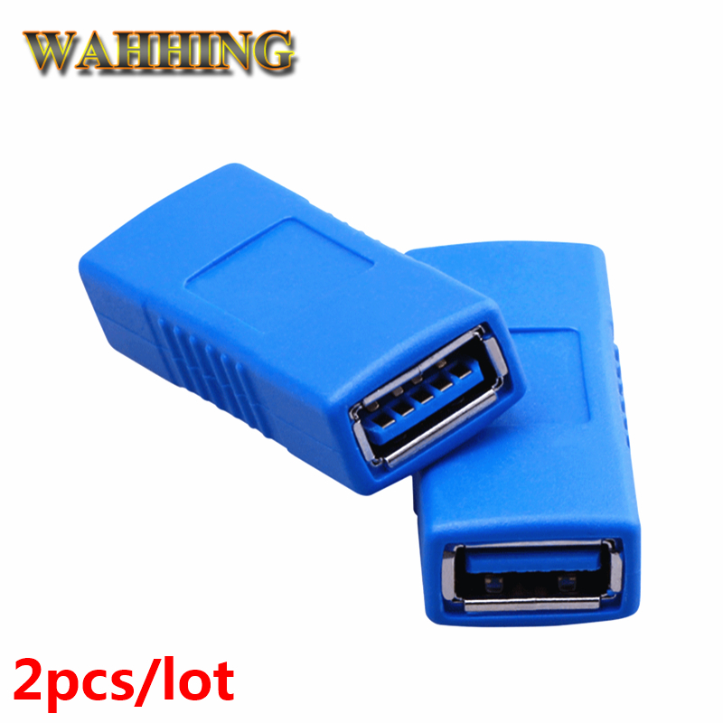 2pcs High Speed USB 3.0 A type Female to Female Cable Adapter F/F USB Extension Cable Connector Support USB 2.0 HY571 10pcs high quality usb 2 0 4pin a type