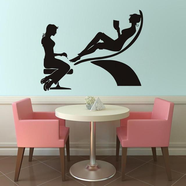 Pedicure Winkel Vinyl Muur Sticker Waterdicht Art Declas Home Decor ...