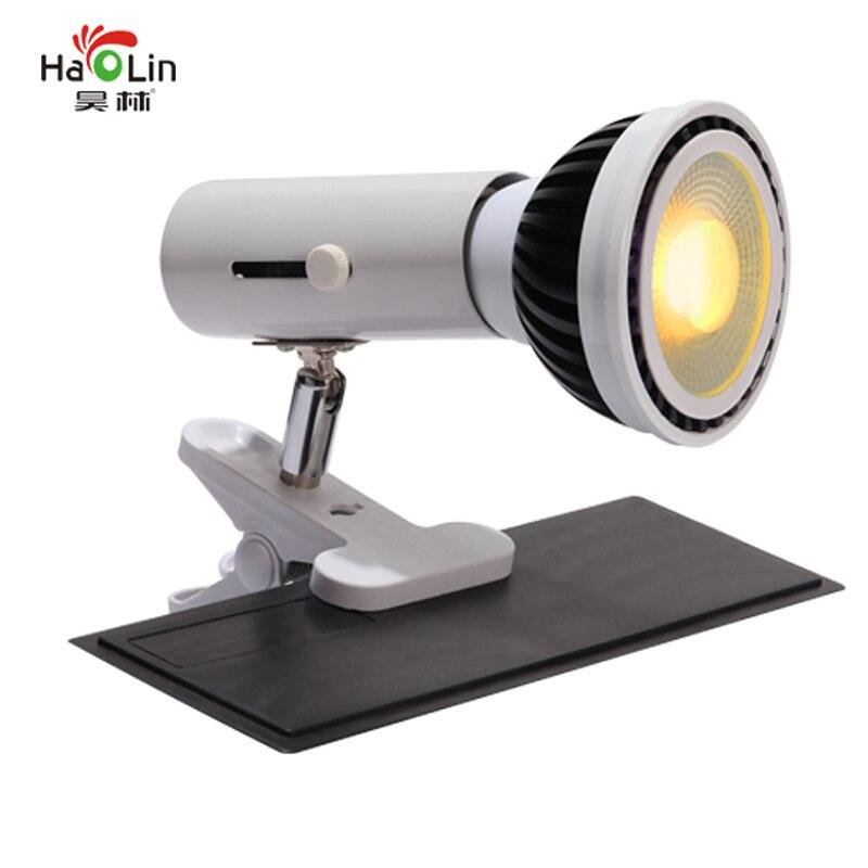 E27 COB Part LED Grow Light Bulb Indoor Plant Home House Full Spectrum Lamp Bulb Kit White + Clamp