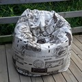 El sello franqueo estilo sello silla del bolso de haba jardín Camping bolsas de frijoles cubiertas Lazy sofá cualquier portátil sentado cojín