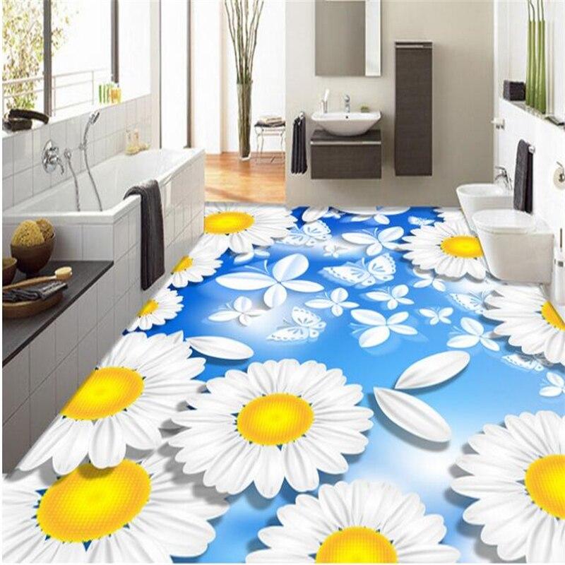 beibehang Custom Made Advanced Aesthetic Modern Classic Wallpaper Sunflower Bedroom 3D Floor papel de parede 3d wallpaper tapety
