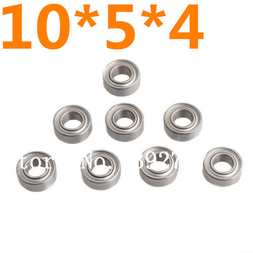 8pcs/set HSP <font><b>Parts</b></font> 02139 8P Ball Bearing 10*5*4mm Himoto 31044 Baja Upgraded Stell For 1/10 <font><b>Scale</b></font> Models <font><b>RC</b></font> Model Car image