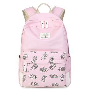AOLIDA Canvas School Bag Backpack Girl Student College Bag Female 2019 Mochila Feminina Laptop Women Backpacks Printing Fashion
