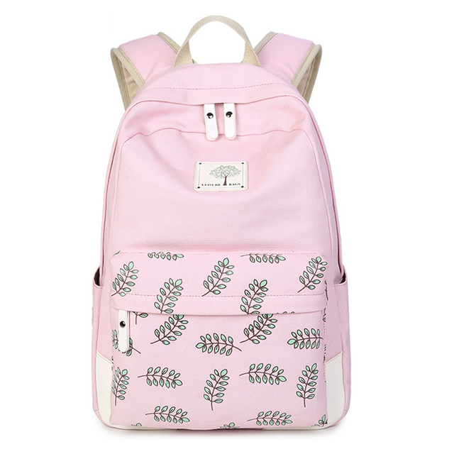 AOLIDA Canvas School Bag Backpack Girl Student College Bag Female 2019  Mochila Feminina Laptop Women Backpacks Printing Fashion 6410fce226585
