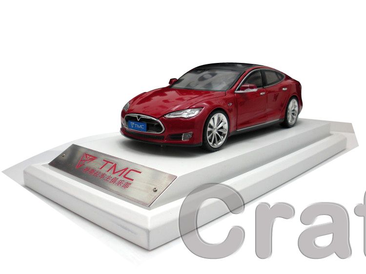 Red 1 30 Scale Tesla Model S TMC Exclusive Collection Alloy Car Model High end Hot