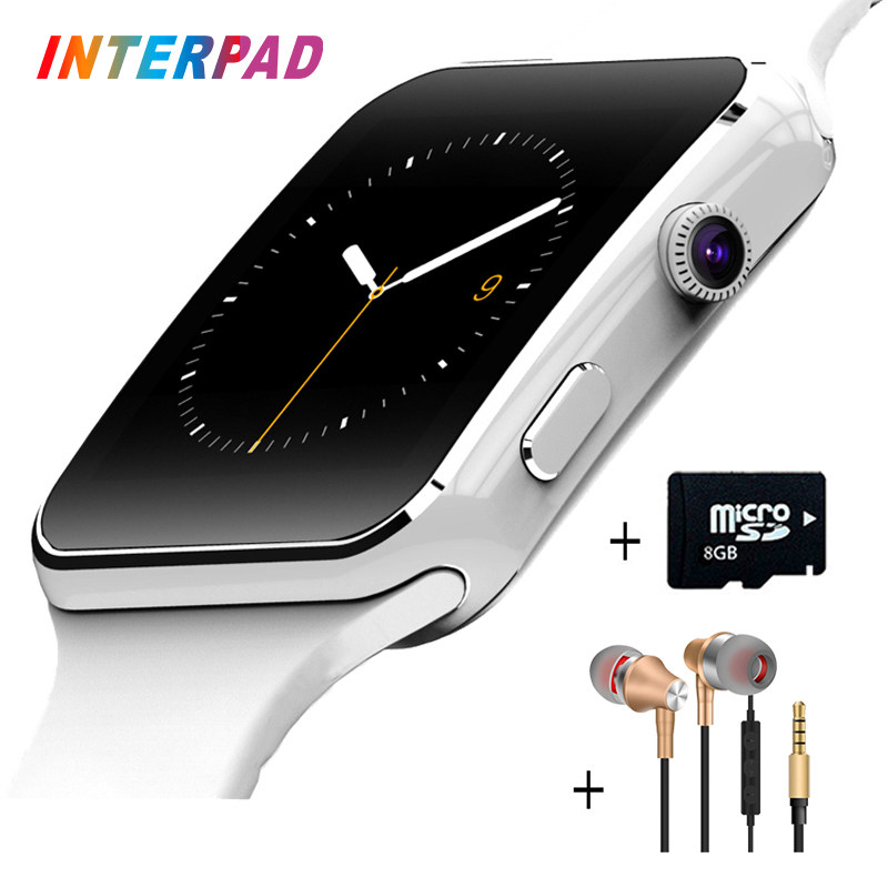 Interpad E6 Smart Watch On Wrist Bluetooth Android Smartwatch For Samsung Huawei Sony Xiaomi Sim TF Card Sleep Tracker PK X6