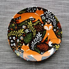 Earendil/Nordischen Land Amourösen Gefühle von Keramikgeschirr/drei Fuchs Keramikplatte/teller/kleine Snacks Salatteller