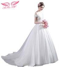 Anxin Sh Princess White Rose Lace Beading Wedding Dress