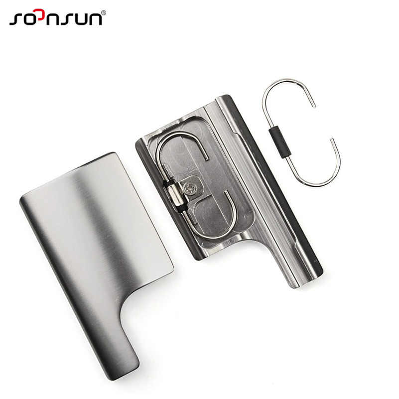 SOONSUN CNC алюминиевый замок Пряжка защелка задняя дверь зажим Крепление для GoPro Hero 3 + 4 водонепроницаемый корпус чехол для Go Pro аксессуар