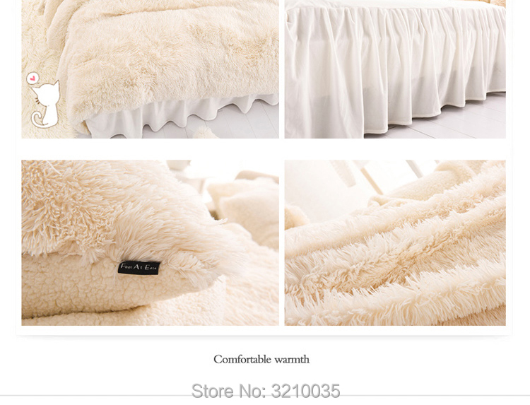 HTB1zomqmL6H8KJjSspmq6z2WXXas - Velvet Mink or Flannel 6 Piece Bed Set, For 5 Bed Sizes, Many Colors, Quality Material