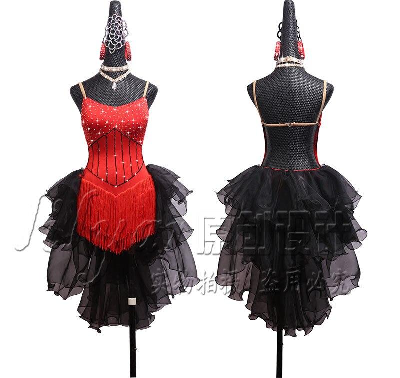 Старший леди платье для сцены Для женщин латинская Одежда для танцев Латинской платье для танцев для девочек камни марли латинский платье д...
