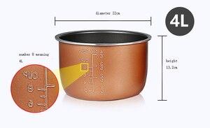 Image 5 - Pentola a pressione elettrica fodera multicooker ciotola 4L/5L/6L litro non stick pan doppio spruzzo ispessimento