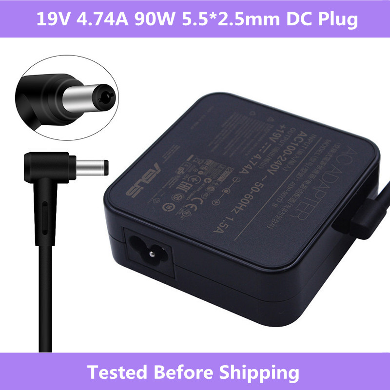 19 V 4.74A 90 W 5,5*2,5mm AC Adapter Power Charger Für Aus A52F A53E A53S A53U A55A a55VD D550CA D550M D550MAV F555LA K501 Laptop