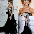 Sweetheart pura negro Tulle Backless de la sirena Vestido Longo Cheryl Cole Met Gala de famosos vestidos 2014 largo Vestido de noche