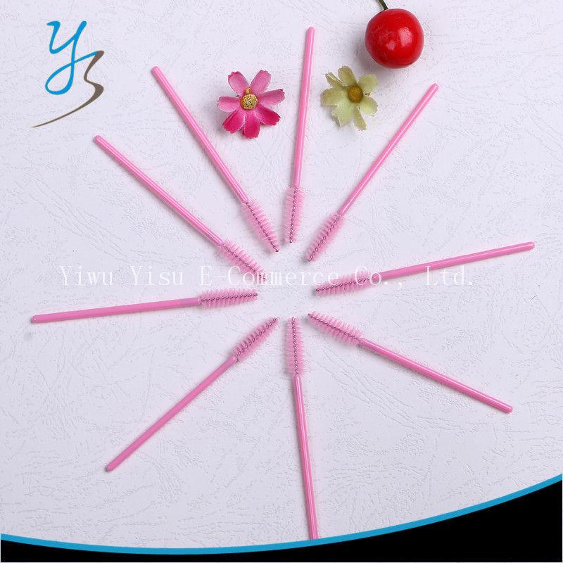 Eyelash Brush One Off Disposable Pink Cosmetic 2000pcs Nylon Mascara Applicator Wand Brush Makeup Tool
