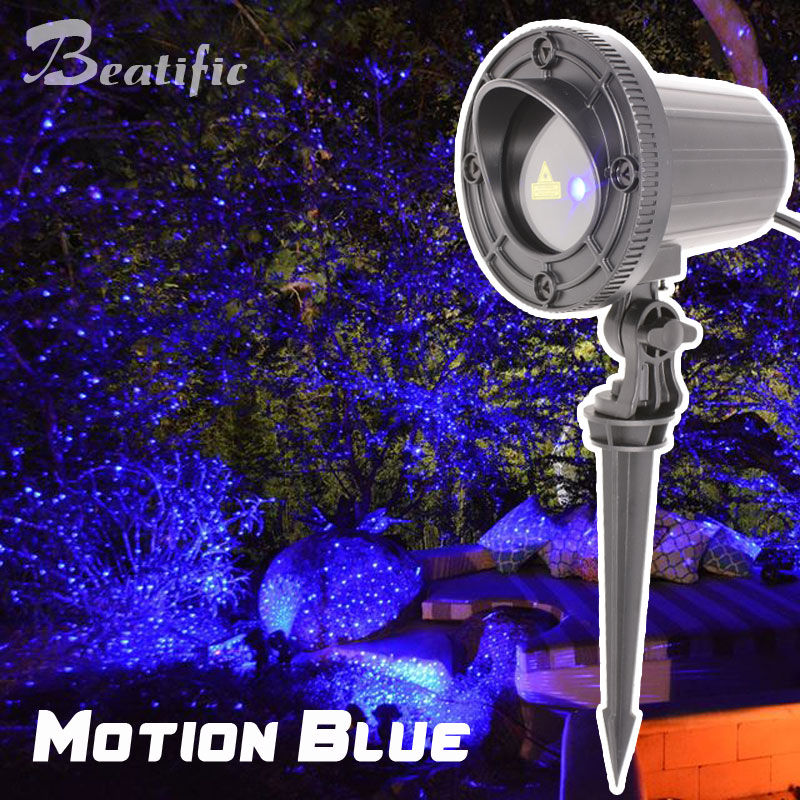 Outdoor Laser Projector Blue Move Effect Holiday Christmas Lights For Home Garden Pool Decorations laser shower waterproof outdoor laser light projector christmas holiday twinkling star lights garden decorations for home