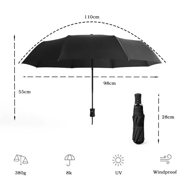 LIKE RAIN Men Business Automatic Umbrella Female Windproof Umbrellas Rain Women Quality Durable Golf Folding Kids Umbrella UBY03