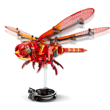 330+Pcs Simulated Insect DIY Figures Red Dragonfly Building Blocks Technic Bricks kids Educational Toys For Children Kids Gift
