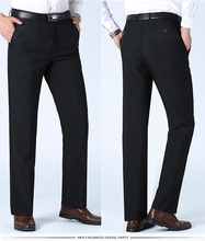 ZOGAA Hot Sale Men Suit Pants Summer Dress Straight Business Office Formal Big Size Classic Trousers Male