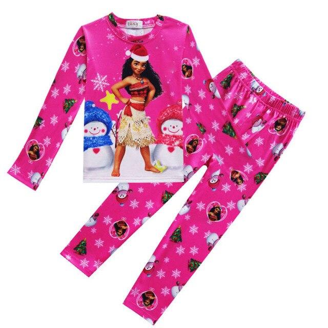 328473d6a0a93 2017 Garçons vêtements de Nuit Moana Vaiana Costume Filles Pyjamas De Noël  Pyjama Enfants Fille Pyjamas