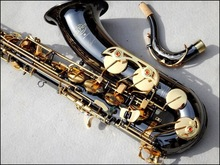 French Selmer 54 B Tenor Saxophone Top Musical Instrument Saxe Wear-resistant PlBlack Nickel ated Gold Professional Sax