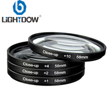 pro1 d super slim wide band protector filter for cameras 55mm Lightdow 4 in 1 Macro Close Up Lens Filter +1+2+4+10 Kit 49mm 52mm 55mm 58mm 62mm 67mm 72mm 77mm for Canon Nikon Sony Cameras