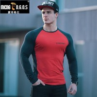 Mens Long Sleeved T Shirt New Autumn Fashion Brand Men Clothes Slim Fit Male Gyms
