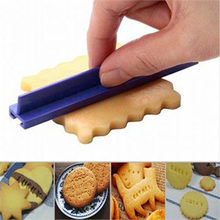 New DIY Alphabet Plastic Biscuit Cookie Cutter Press Stamp Cake Mould Letter Impress Embosser Fondant Mold Drop Shipping TSLM1(China)
