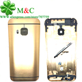 Original M9 Battery Back Cover for HTC One M9 Housing Battery Door Back Cover Chassis Frame With Camera Lens Side Button Key