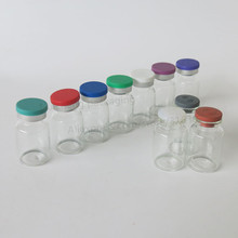 Empty 10ML Clear Injection Glass Vial with Plastic Aluminium Cap 10CC Transparent Liquid Medicine Glass Containers