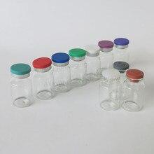 Trống 10ML Rõ Ràng Phun Lọ Thủy Tinh có Nhựa Nhôm Nắp 10CC Chất Lỏng Trong Suốt Thuốc Hộp Đựng Kính