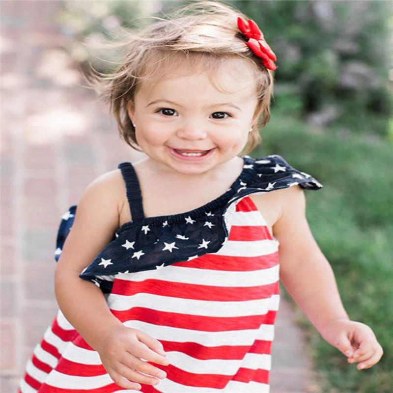HTB1zooeKkKWBuNjy1zjq6AOypXa5 - Baby Girls Infant Kids 4th Of July Star Dress Clothes Sundress Casual Sets T#