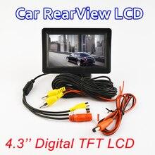 """Monitor del coche de 4.3 """"Pantalla De Visión Trasera Inversa Cámara de Color de 4.3 Pulgadas TFT LCD de Pantalla Digital de ALTA DEFINICIÓN PAL/NTSC"""