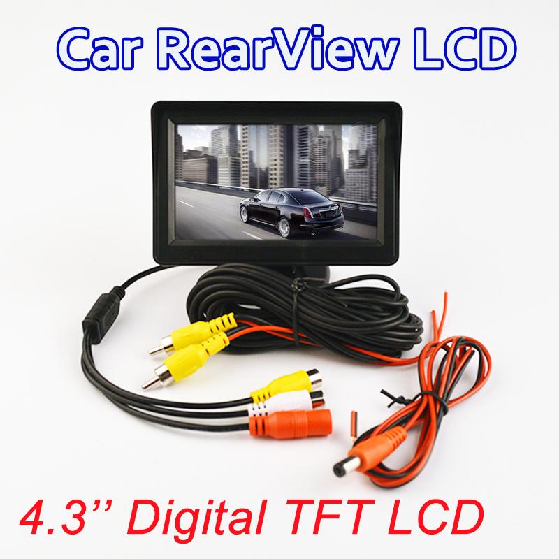 """Prix pour Moniteur de voiture 4.3 """"Écran Pour Arrière Vue Caméra de Recul TFT LCD Affichage HD Numérique Couleur 4.3 Pouce PAL/NTSC"""