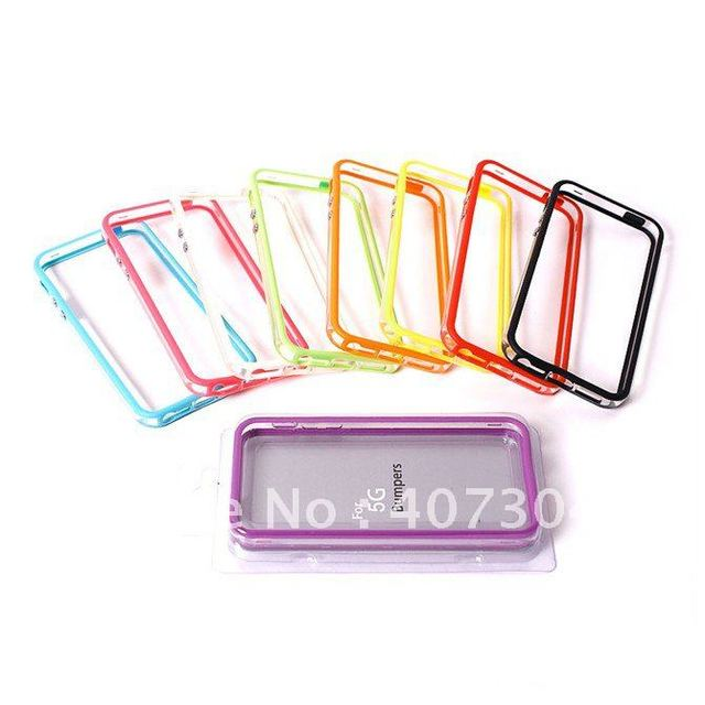 1000pcs/lot free shipping Soft TPU bumper cover case for iphone 5 ,TPU bumper case for iphone5