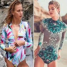 Здесь можно купить   Sexy Print Long Sleeves Women Bikini 2018 Bandage Brazilian Push up Swimsuit Floral Surf Swimsuit Bathing suit plus size biquini Sportswear & Accessories